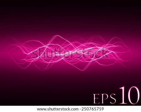 magic spell effect (pink colored,horizontal waves version)