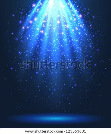 Magic spotlight background - vector illustration. - stock vector