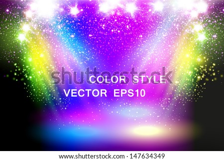 Magic Spotlights concept - stock vector