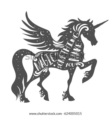 unicorn silhouette stock images royaltyfree images