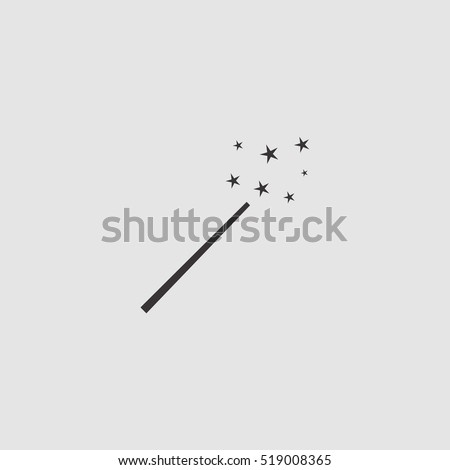 magic wand icon vector illustration, for web and mobile design