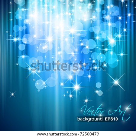 Magic Waterfall of lights for Suggestive Flyers - stock vector