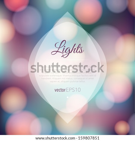 Magical background with night bokeh - stock vector