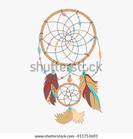 How Do Dream Catchers Catch Dreams Magical Dream Catcher Sacred Feathers Catch Stock Vector 40 16