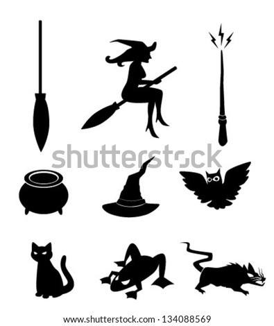 Magical Objects Icons - Vector - stock vector