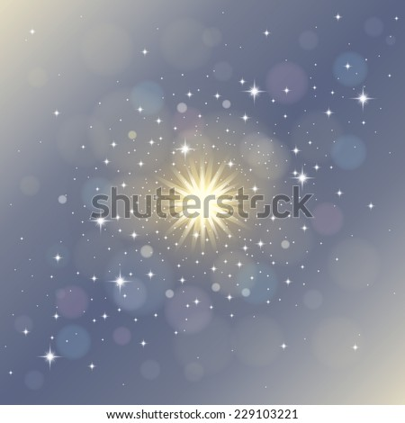 Magical stardust. Abstract background - stock vector