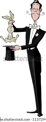 Magician on a white background vector illustration - stock vector