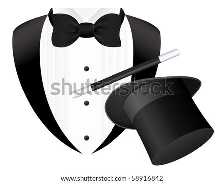 Magician, vector illustration - stock vector