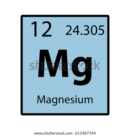 Magnesium Periodic Table Element Color Icon On White Background Vector