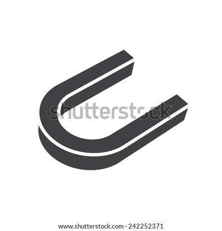 Magnet, modern flat icon - stock vector