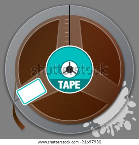 magnetic tape - stock vector