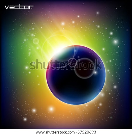 magnificent vector comet - stock vector