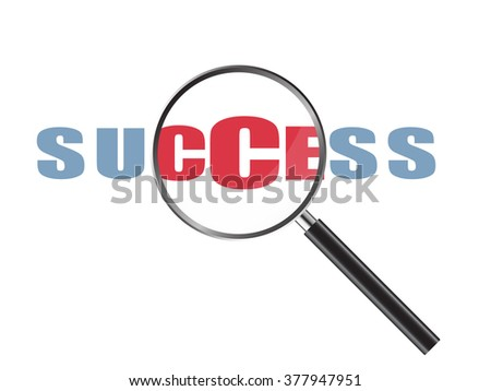Magnifier Concept with Success word, Vector Illustration EPS 10.