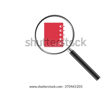 Magnifier Concept with web icon, Vector Illustration EPS 10.