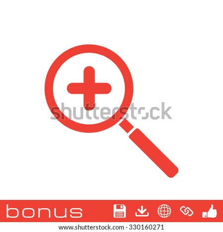 Magnifier Glass, search icon - stock vector