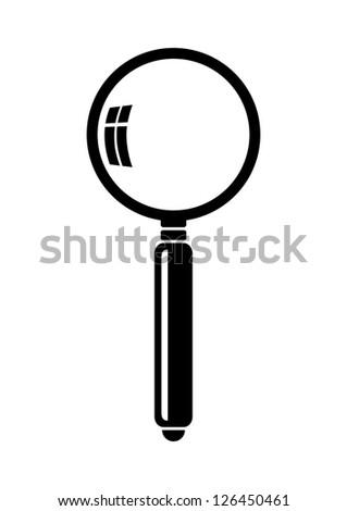 Magnifier icon - stock vector