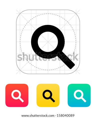 Magnifier icon. Vector illustration. - stock vector