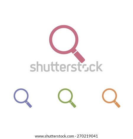 Magnifier icons - stock vector