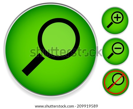 Magnifier set. Zoom, no high-res version of the picture versions. - stock vector