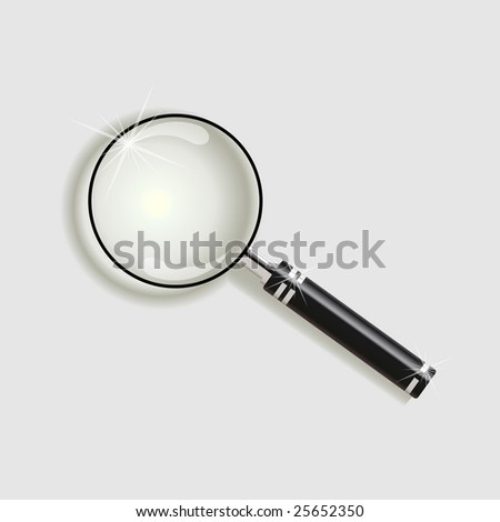 Magnify glass - stock vector