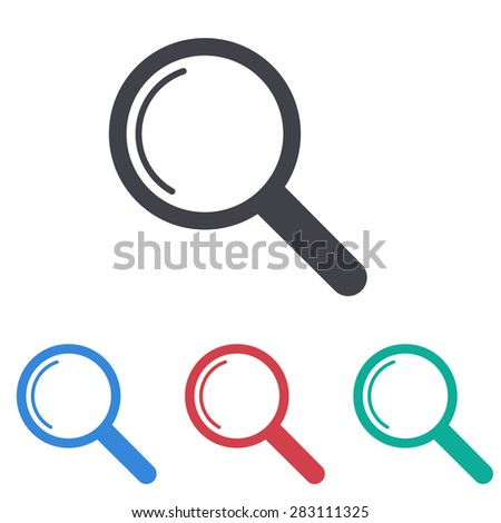 Magnify icon - stock vector