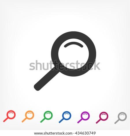 Magnify line vector icon - stock vector