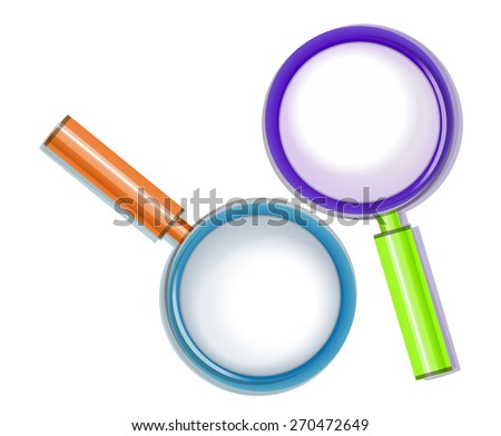 Magnifying Glass Colorful. Vector - stock vector