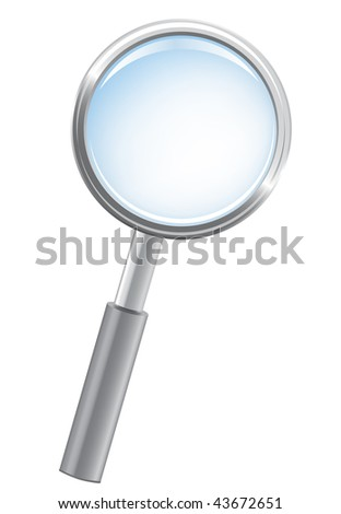 Magnifying glass, detailed vector - stock vector