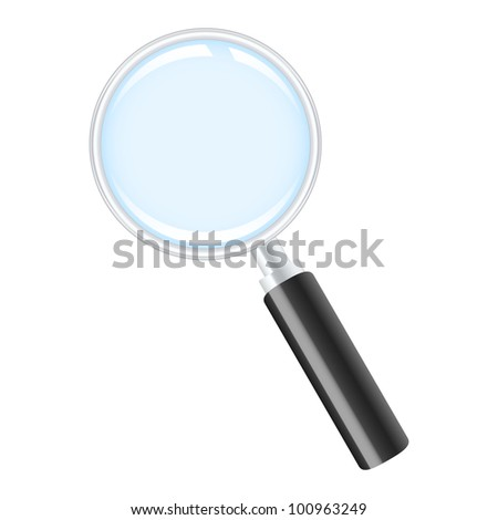 Magnifying glass icon. - stock vector