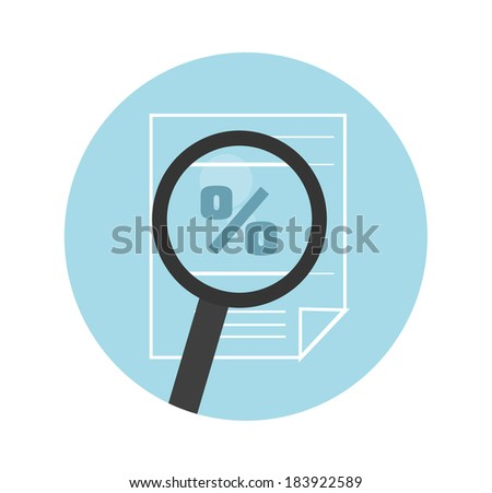 Magnifying glass icon. Search the document