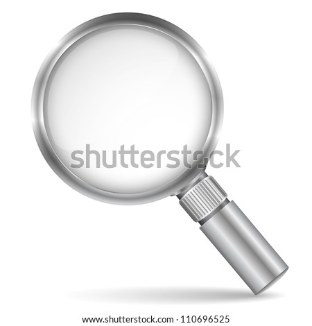 Magnifying glass icon, vector eps10 illustration - stock vector