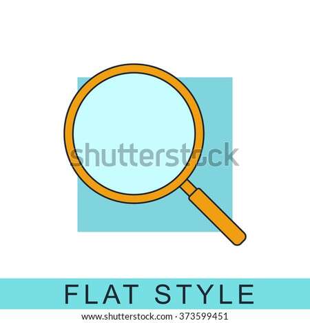 magnifying glass Icon Vector. magnifying glass Icon JPEG. magnifying glass Icon Object. magnifying glass Icon Picture. magnifying glass Icon Image. magnifying glass Icon Graphic. - stock vector