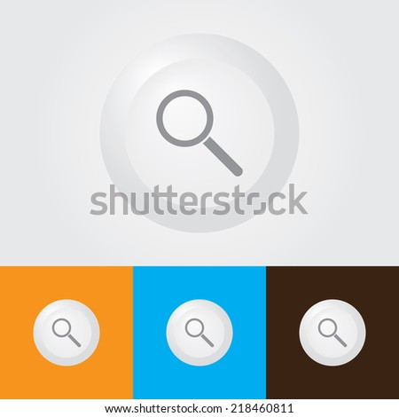 Magnifying glass Icon , Zoom out Symbol - stock vector