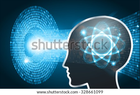 Magnifying Glass scanning and identifying a computer virus. Anti virus protection and computer security concept. PC. one zero. scan.technology digital website internet web. Brainstorm,Brain.Bulb Ideas