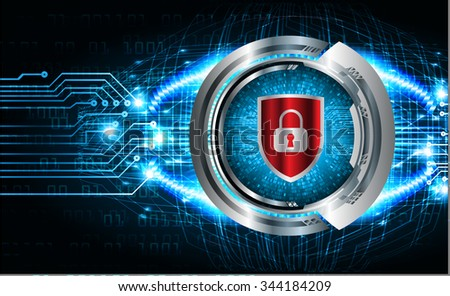 Magnifying Glass scanning and identifying a computer virus. Antivirus protection and computer security concept. PC. vector one zero. scan. technology digital website internet web. lock, key, Padlock - stock vector