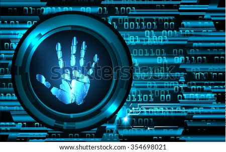 Magnifying Glass scanning and identifying a computer virus. Antivirus protection security concept. PC. vector. scan. technology digital website internet web. scanning. Hand print.