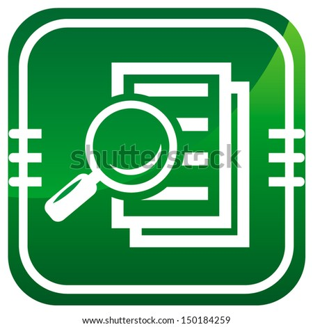 Magnifying glass - Search the document.  - stock vector
