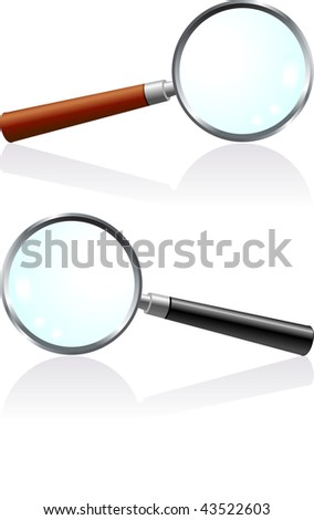 Magnifying Glass Set Original Vector Illustration Simple Image Illustration