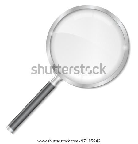Magnifying glass, vector eps10 illustration - stock vector