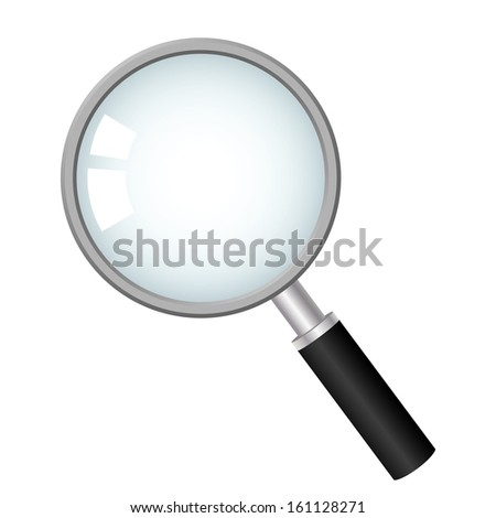 magnifying glass, vector icon  - stock vector