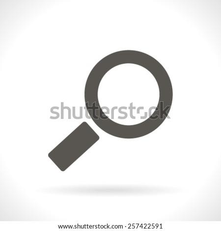 Magnifying glass.Vector illustration. - stock vector