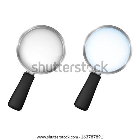 Magnifying glasses on white background, vector eps10 illustration - stock vector