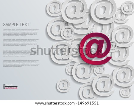Mail Abstract Background  - stock vector
