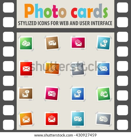 mail and envelope web icons for user interface design - stock vector
