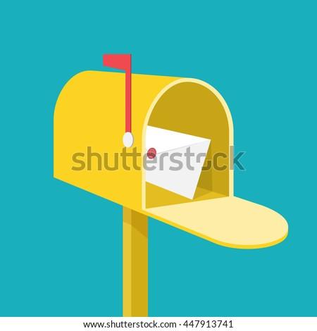Mail box - stock vector