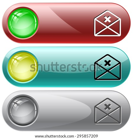 mail cancel. Vector internet buttons. - stock vector