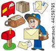 Mail collection on white background - vector illustration. - stock photo