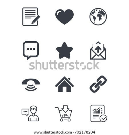 Mail Contact Icons Favorite Like Internet Stock Vector Hd Royalty