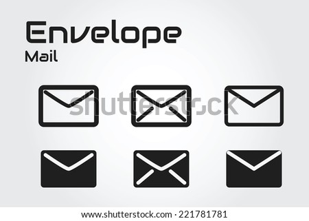 mail envelope icon  - stock vector