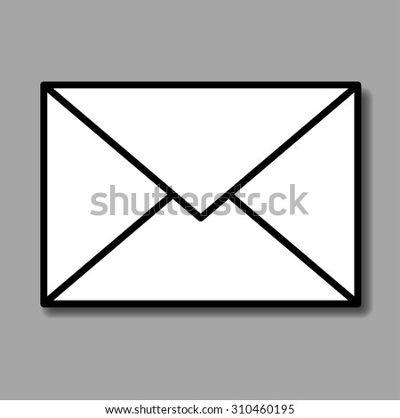 Mail envelope vector icon  - stock vector